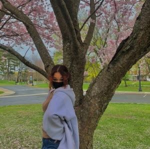Enjoying spring on campus