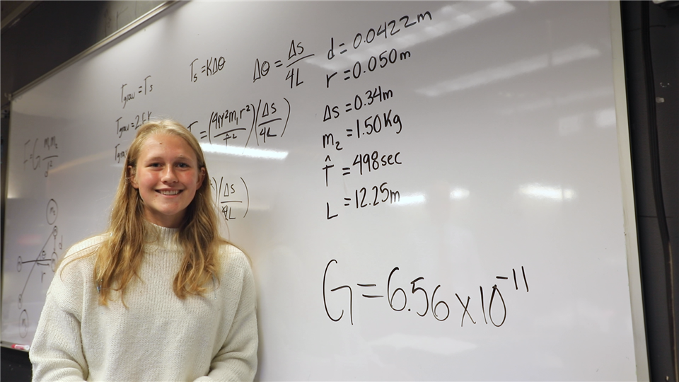 Doing Science: Sophia Arnold '21 and the Universal Gravitational Constant