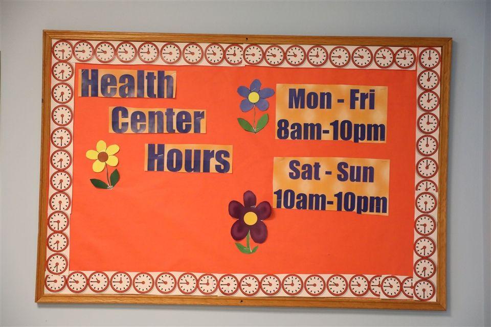 Health Center Hours