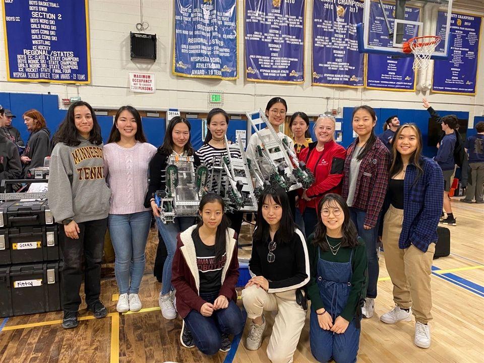 Carol with the Emma VEX Robotics Team